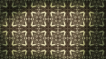 Brown and Green Vintage Floral Pattern Background