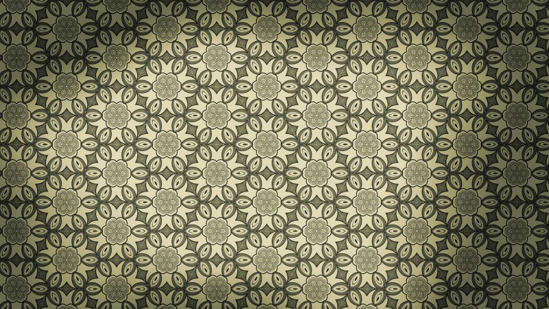 Brown and Green Vintage Ornamental Seamless Pattern Background Design