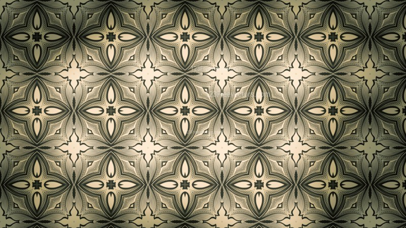Brown and Green Vintage Seamless Floral Background Pattern