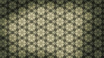 Brown and Green Vintage Ornamental Pattern Wallpaper
