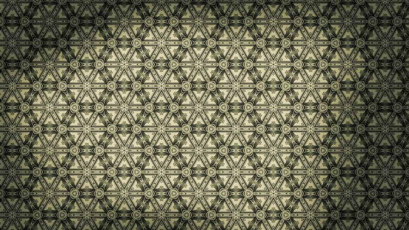 Brown and Green Vintage Seamless Ornamental Pattern Wallpaper