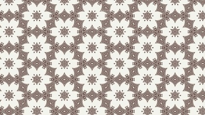 Brown and White Vintage Decorative Ornament Wallpaper Pattern