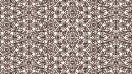 Brown and White Vintage Flower Wallpaper Pattern