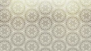 Brown and White Vintage Seamless Ornament Wallpaper Pattern Design Template