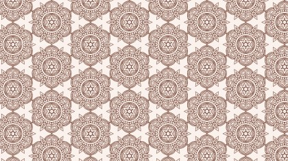 Brown and White Vintage Floral Pattern Texture Background Template