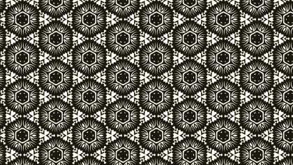 Brown and White Vintage Decorative Floral Seamless Pattern Background Image