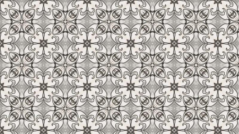 Brown and White Geometric Ornament Background Pattern