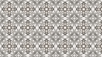 Brown and White Geometric Ornament Seamless Background Pattern Design