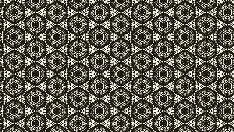 Brown and White Seamless Geometric Ornament Background Pattern Design Template