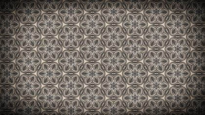 Coffee Brown Vintage Floral Seamless Pattern Background Graphic
