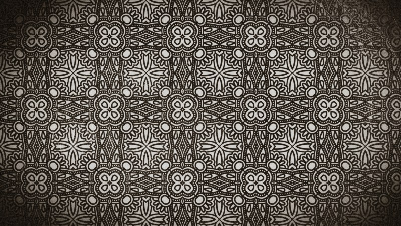 Coffee Brown Vintage Ornamental Seamless Pattern Background Design