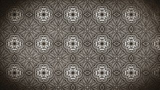 Coffee Brown Vintage Decorative Floral Ornament Background Pattern Design Template