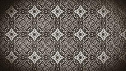 Coffee Brown Vintage Decorative Floral Ornament Background Pattern Design Template