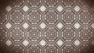 Coffee Brown Vintage Floral Ornament Background Pattern Template