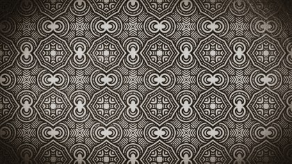 Coffee Brown Vintage Seamless Floral Background Pattern