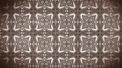 Coffee Brown Vintage Seamless Ornament Background Pattern Graphic