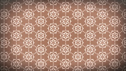 Copper Color Vintage Flower Wallpaper Pattern