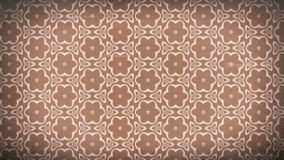 Copper Color Vintage Ornament Wallpaper Pattern Design