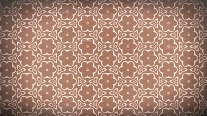 Copper Color Vintage Ornament Wallpaper Pattern Design