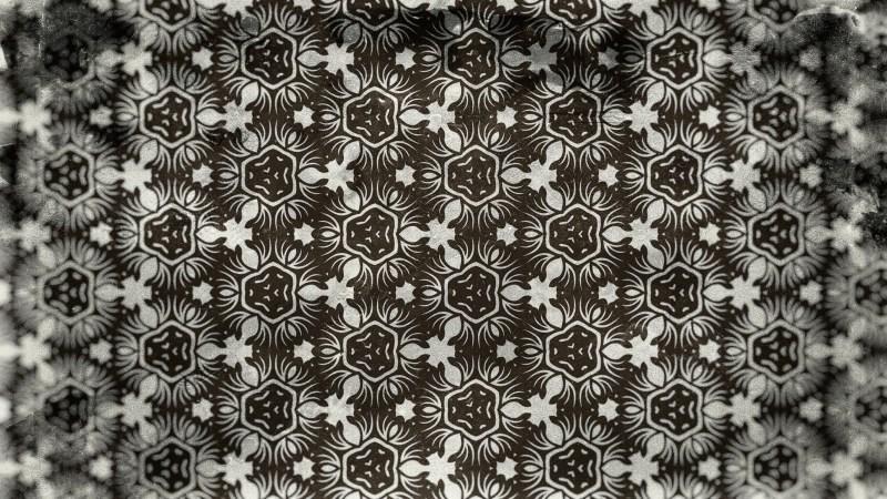 Dark Brown Vintage Floral Wallpaper Background