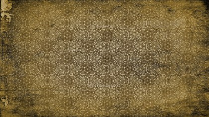 Dark Brown Vintage Floral Pattern Background