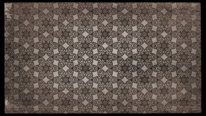 Dark Brown Vintage Ornamental Pattern Wallpaper
