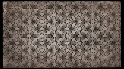 Dark Brown Vintage Ornament Wallpaper Pattern Design