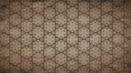 Dark Brown Vintage Floral Ornament Wallpaper Pattern Graphic
