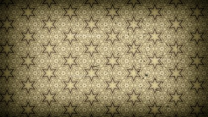 Dark Brown Vintage Floral Pattern Wallpaper