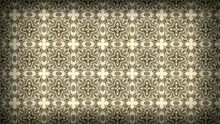 Dark Brown Seamless Floral Vintage Pattern Background Image