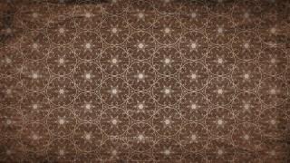 Dark Brown Vintage Decorative Floral Ornament Background Pattern Design Template