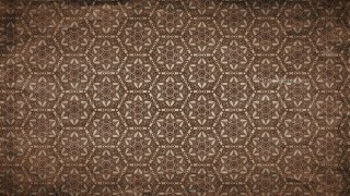 Dark Brown Vintage Decorative Floral Ornament Wallpaper Pattern Image