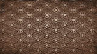 Dark Brown Vintage Flower Wallpaper Pattern