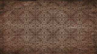 Dark Brown Vintage Seamless Floral Wallpaper Pattern