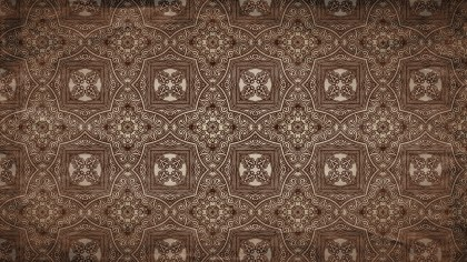 Dark Brown Vintage Seamless Ornament Wallpaper Pattern Design Template