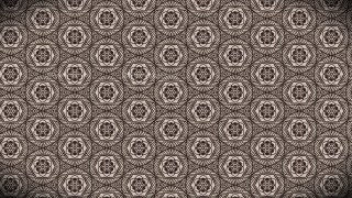 Dark Brown Vintage Floral Wallpaper Background