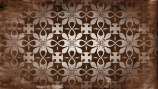 Dark Brown Vintage Seamless Ornamental Pattern Background