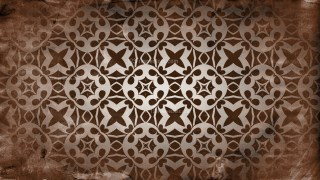 Dark Brown Vintage Flower Background Pattern