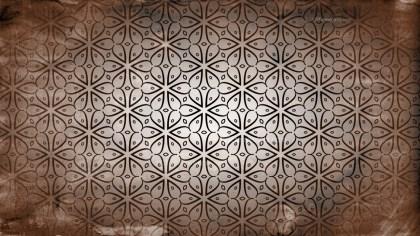 Dark Brown Vintage Seamless Floral Background Pattern
