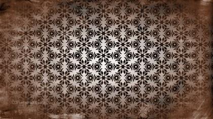 Dark Brown Vintage Decorative Floral Pattern Wallpaper
