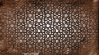 Dark Brown Vintage Ornamental Pattern Wallpaper
