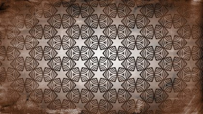 Dark Brown Vintage Seamless Ornamental Pattern Wallpaper