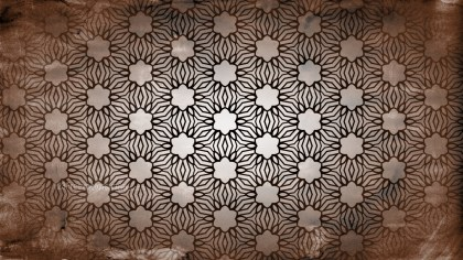 Dark Brown Vintage Decorative Ornament Wallpaper Pattern