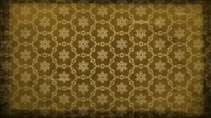 Dark Brown Vintage Seamless Floral Background Pattern