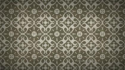 Dark Brown Vintage Floral Pattern Background