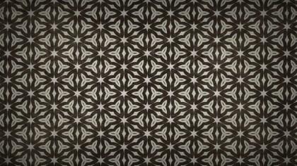 Dark Brown Vintage Flower Background Pattern