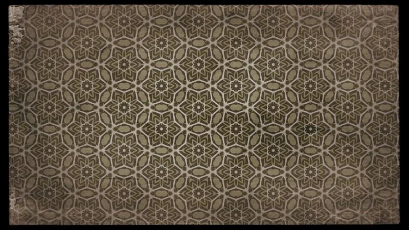 Dark Brown Vintage Floral Seamless Pattern Background Graphic