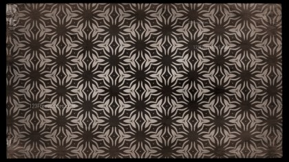 Dark Brown Vintage Decorative Floral Seamless Pattern Wallpaper Design