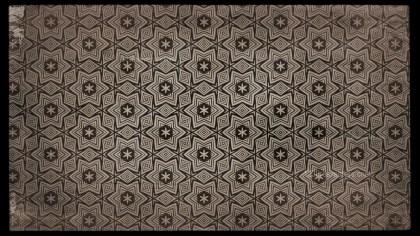 Dark Brown Vintage Seamless Ornamental Pattern Wallpaper