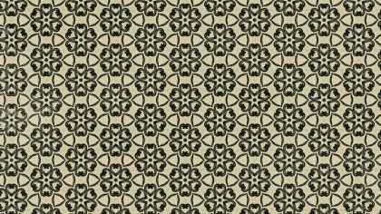 Dark Brown Vintage Seamless Floral Wallpaper Pattern